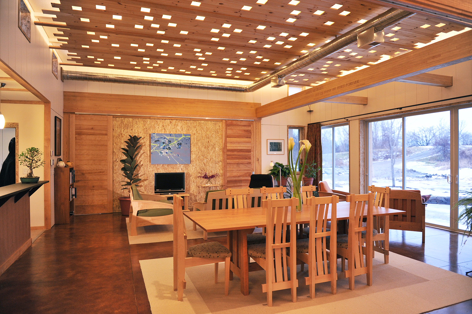 Bensonwood MIT collaboration Open_2 dining room