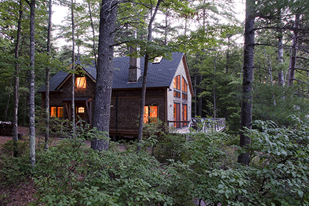 Bensonwood timber frame lake house