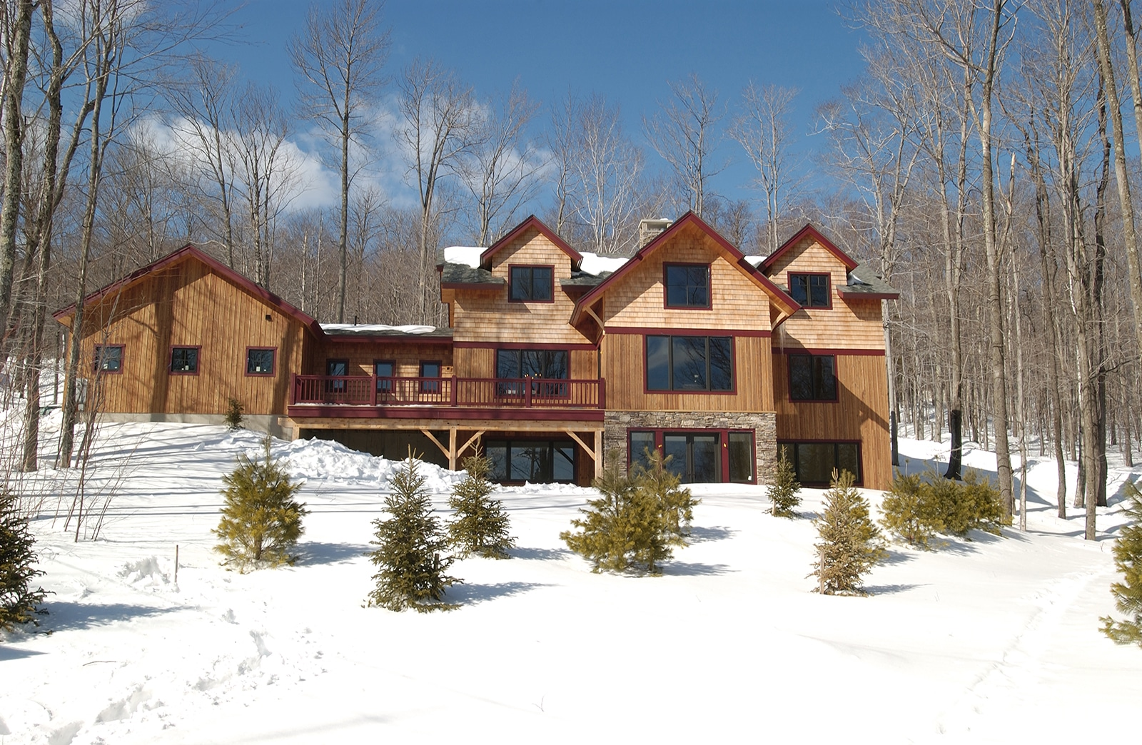 Bensonwood trailside ski house Ludlow Vt